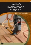 HARDWOOD FLOORS: SET -LAYING,SAND,& FINISH.-BOOK/ DVD SET